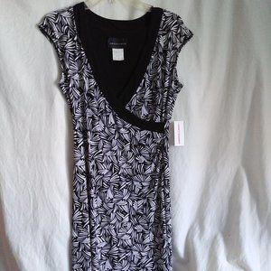 Vintage Faux-Wrap Stretch Jersey Dress NWT